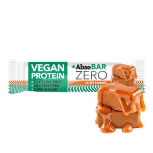 AbsoBAR ZERO 40g - Sós Karamell - vegán fehérjeszelet